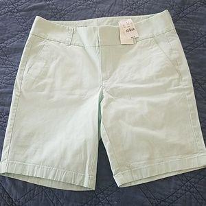 Mint Frankie Shorts by J.Crew